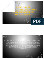 Corporate structure network and knowledge nanagement