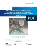 Education and Sustainable Peacebuilding
