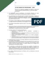 Protocolo de Consejo de Profesores