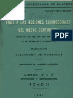 Alejandro Humbolt Viaje a Las Regiones Equinocciales 2