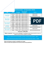 Kolkata Teaching Centre - Class Timings - Term 4 4 November to 15 December Young Learners