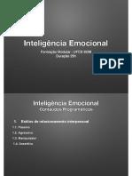 Inteligência emocional - relacionamento interpessoal
