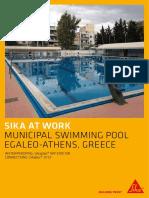 Saw Waterproofing Municipal Swimming Pool Greece