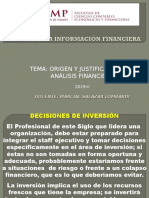 Origen y Justificación Del Analisis Financiero 2019-II Usmp