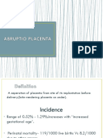 Abruptio Placenta