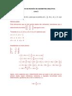 Revisão Lista 2 Com Gabarito - Geometria Analítica