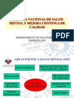 áreas políticas de salud mental