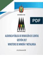 Audiencia Publica de Rendición de Cuentas 2017