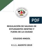Anexo 11 Regulación Salidas Pedagógicas