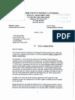 DA letter to defense regarding Mavis Tire (Oct. 7, 2019)