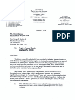 Defense Letter to Court Regarding Mavis Tire (Oct. 8, 2019)
