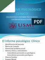 Reporte o Inf Psicologico Clinico