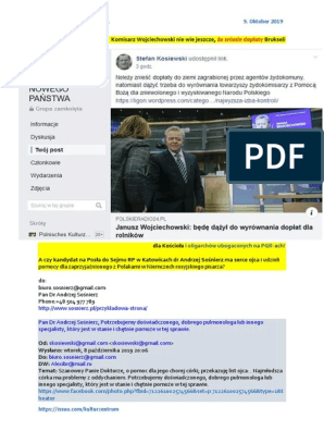 Komisarz Wojciechowski nie wie jeszcze ze zniesie doplaty Brukseli dla Kosciola i oligarchow ubogaconych na PGR-ach M28 SSetKh von Stefan Kosiewski 20191009 ME SOWA