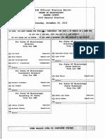 Jasper County sample ballot for 2019 general election