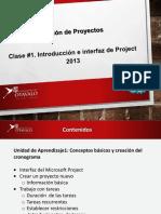 1Clase. Introducción e Interface de Project 2013