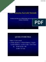 LENTES de CONTACTO - Queratometría, Indicaciones, Contraindicaciones (Dra. Morayma Acevedo)