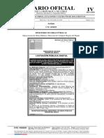 Docmento tipo de Diario Oficial