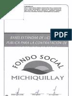 L. P. Nº 13-2019-AFSM-CE Primera Convocatoria (Campo deportivo sector Michiquillay)