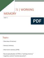 Module5 Working Memory1 Mod5 Class
