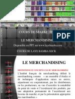 Cours de Merchandising Student
