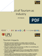 Topic 5 - Impact of Tourism as Industry