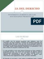 Fenómeno Jurídico de Las Sociedades Primitivas