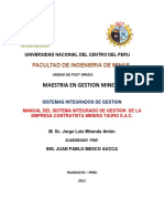 Manual de Gestion Integral e.c.m. Tauro Sac