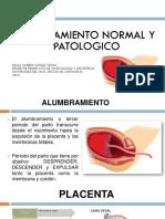 Alumbramiento Normal y Patologico