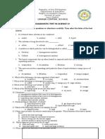 Diagnostic Test in Science VI
