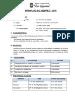 Plan de Trabajo 2019 - Ajedrez
