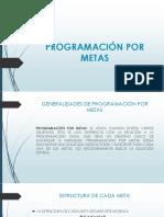 Programación Por Metas