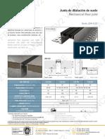 05 - Juntas de dilatación de suelo (metal + inserto flexible)
