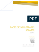 Papas Fritas Fileteadas Saladas