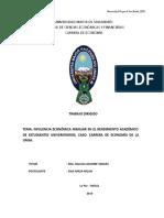 Influencia Economica Familiar Enb El Rendimiento Acsadfemico de Universitarios...