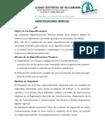 ESPECIFICACIONES PUENTES METALICOS