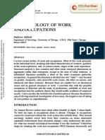 Andrew Abbott La Sociología Del Trabajo y de Las Ocupaciones