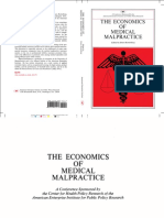 The Economics of Medical Malpractice