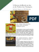 Los 250 Mejores Discos Del Rock en Español Rock en Las Americas