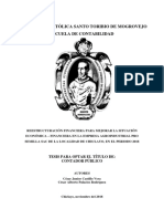 Reestructuración Financiera Castillo Palacios 24-11-2018