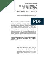 ESTILOS DE ESCULTURA EM PEREGRINAÇÃO MARCAS DE UM BRASIL AFRICANO OU DE UMA ÁFRICA BRASILEIRA EM OBJETOS DE COLEÇÃO