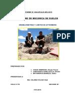 GRANULOMETRIA Y LIMITES DE ATTERBERG