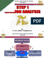 Step 1- Mission Analysis