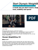 How to Start Olympic Weightlifting Training