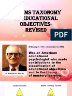 Blooms Taxonomy of Educational Objectives-revised