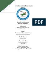 Enseñanza de Las Matemáticas y Alternativas Metodológicas.