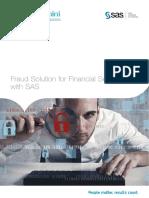 Fraud Solution for Financial Services With Sas -Capgemini & SAS