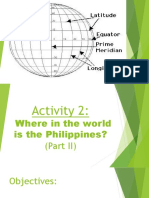 Activity 2 Where in the World is the Philippines