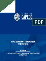 CAPECO III CICLO Sesión 3 Planteamiento - Objetivos-2019-II