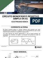 Circuito Monof Resist Simple en AC