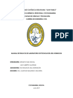 Manual de Ensayos de Laboratorio de Tecnologia Del Hormigon